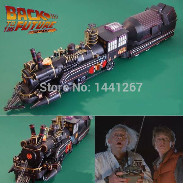 Фильм Назад в будущее д-р Барлетт поезд наборы классические 3D бумажные модели Railroader бумажные ремесла модели игрушки для детей