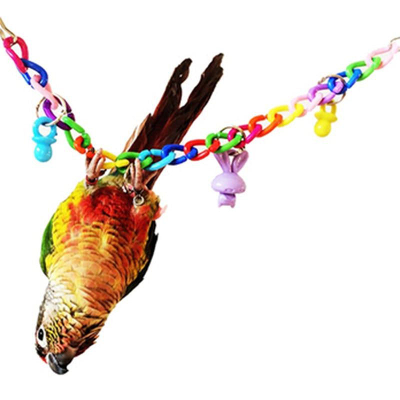 Mascotas juguetes de aves juguetes masticables para loro swing Swing bridge climbing rope ladder colgante de acrílico