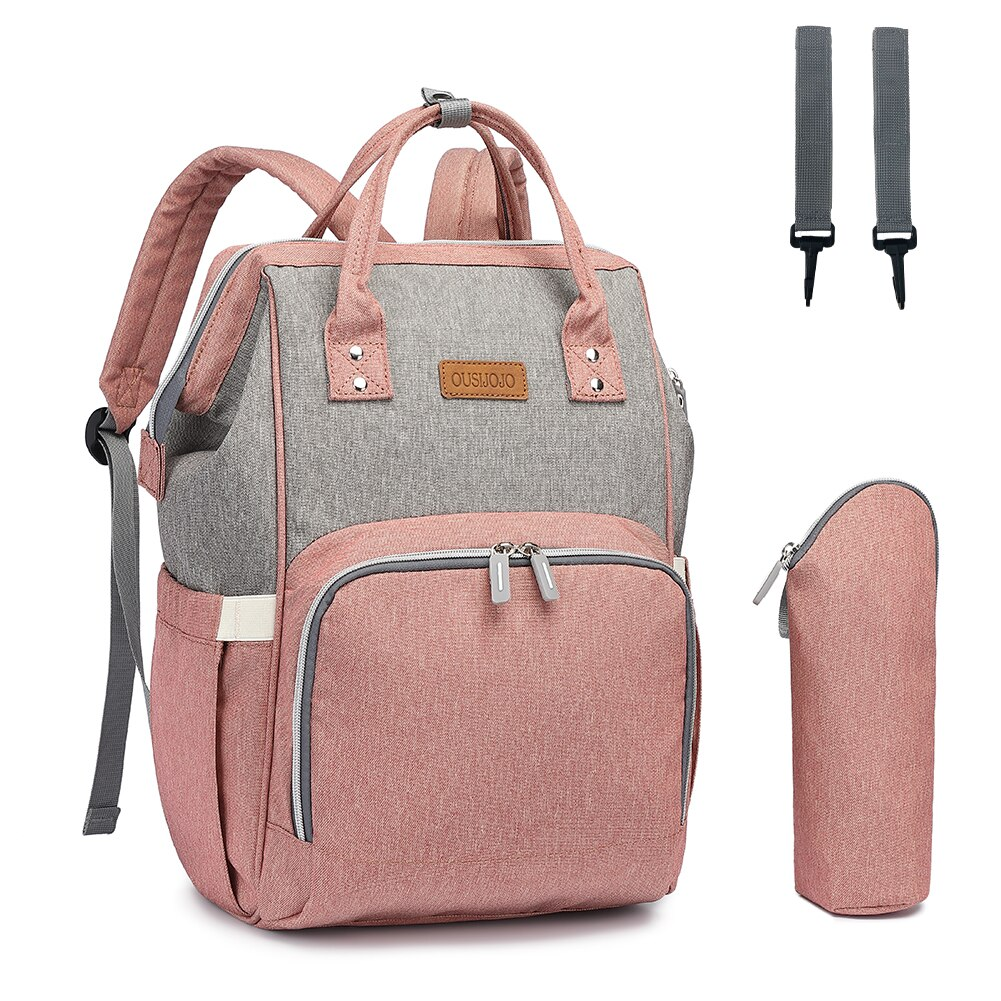 OUSIJOJO Diaper Bag Backpack Mummy Maternity Nappy Bag  Travel Diaper Bags For Baby Care With Independent Insulation Bag недорого