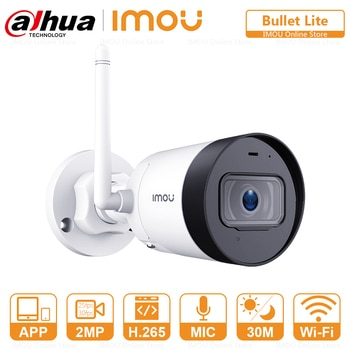 Dahua Bullet WIFI Ip Camera Outdoor Built-in Microphone Alarm Notification 30M Night Vision RTSP HD Security Surveillance Camera