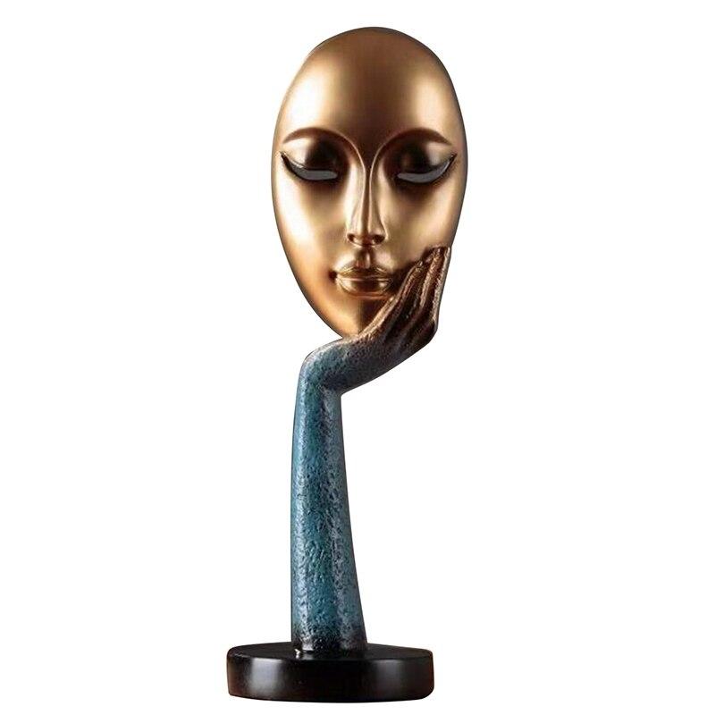 Modernos meditadores humanos abstractos Lady Face carácter resina estatuas escultura arte artesanías figurita hogar decorativo pantalla