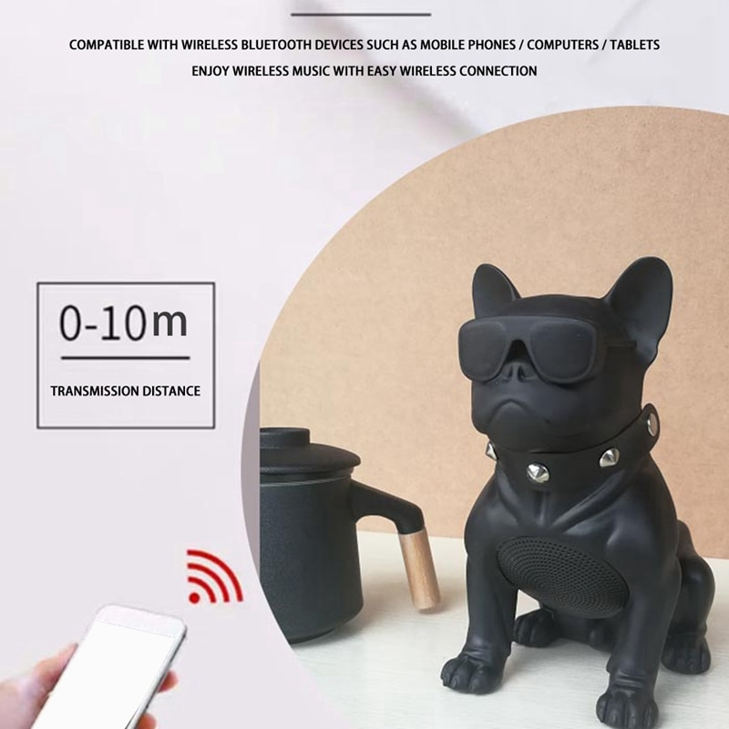 Dog full body Bluetooth speaker method Bulldog type large speaker dual speaker USB card speaker enlarge
