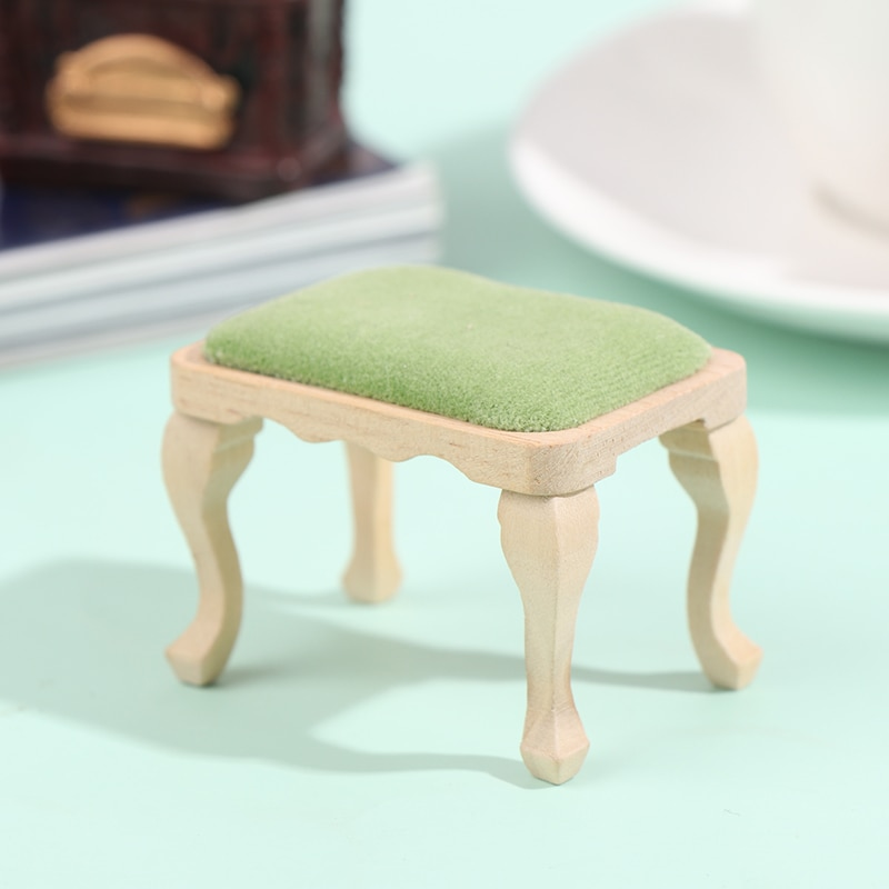 1/12 Dollhouse Mini Furniture Stool Simulation Chair Furniture Model Toys for Doll House Decoration Miniature Accessories недорого