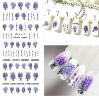 ds419 439 new diy summer fantacy flowers water transfer nails art sticker harajuku nail wrap sticker tips manicura stickers