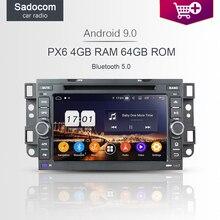 PX6 DSP 4GB RAM 8 core مشغل أسطوانات للسيارة أندرويد 9.0 لشروليه أبيكا أفيو كابتيفا 2006-2012 راديو السيارة 4.2 autoradio لتحديد المواقع غلوناس