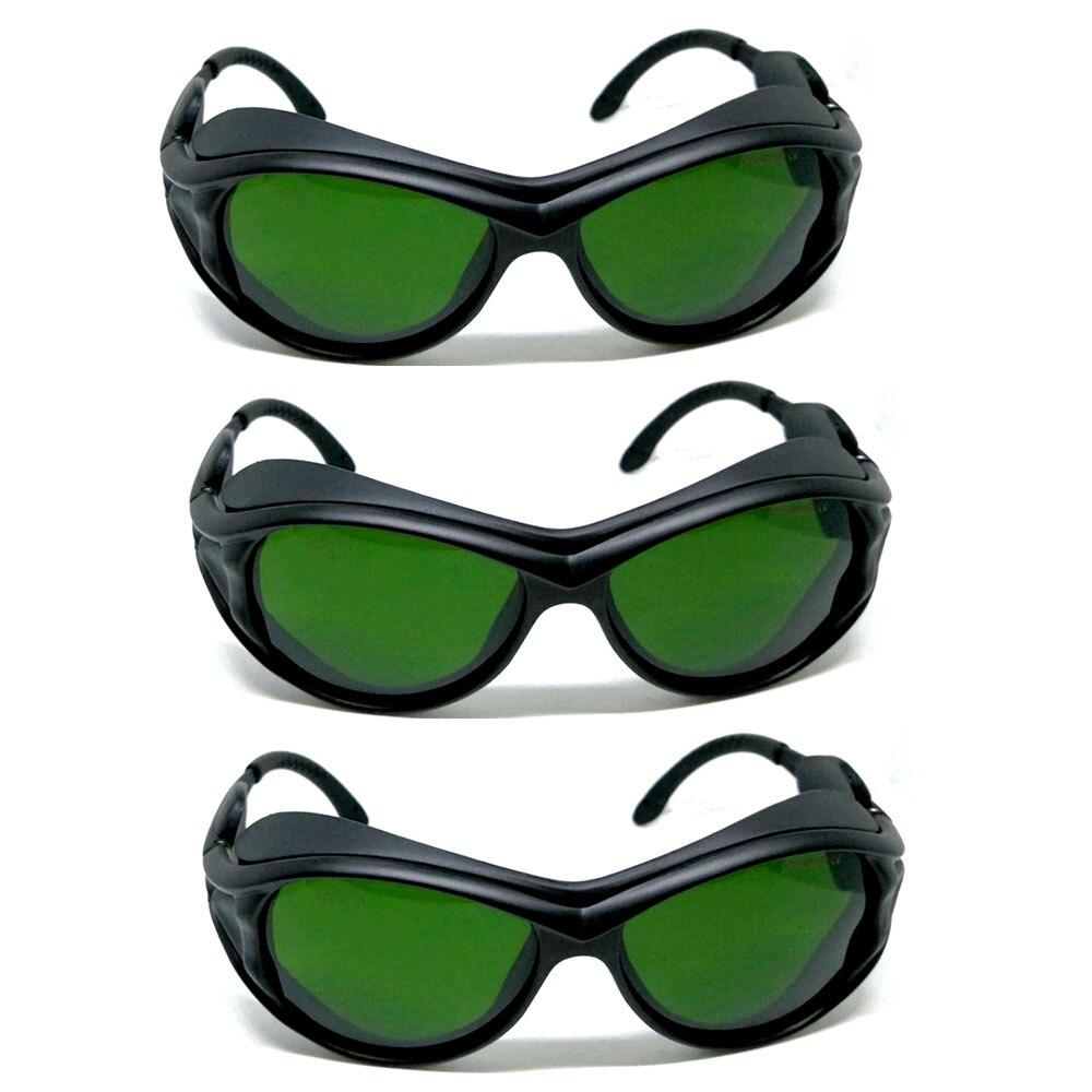 3 pces 6006 tipo 200nm 2000nm ipl beleza laser protecao oculos de seguranca ce od5 uv400