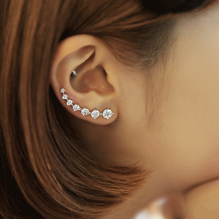 REETI New High Quality Super Shiny Zircon 925 Sterling Silver Earring for Women Jewelry Wholesale Gi