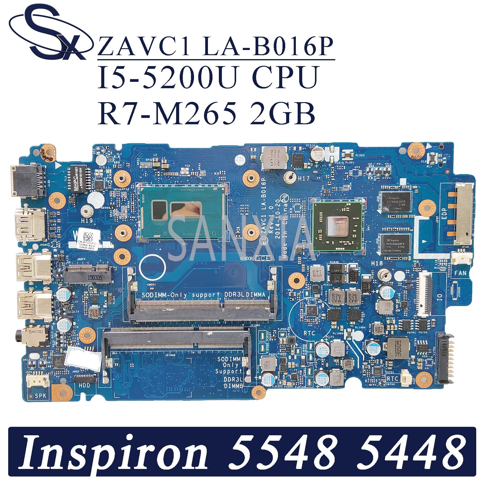 KEFU LA-B016P Laptop motherboard für Dell Inspiron 15-5548 14-5448 original mainboard I5-5200U R7-M265 2GB