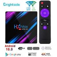 Android 10,0 ТВ коробка X96 Max RK3318 4K смарт-медиа-плеер 4 ГБ Оперативная память 64 Гб Встроенная память X96 Max Декодер каналов кабельного телевидения 4 яд...