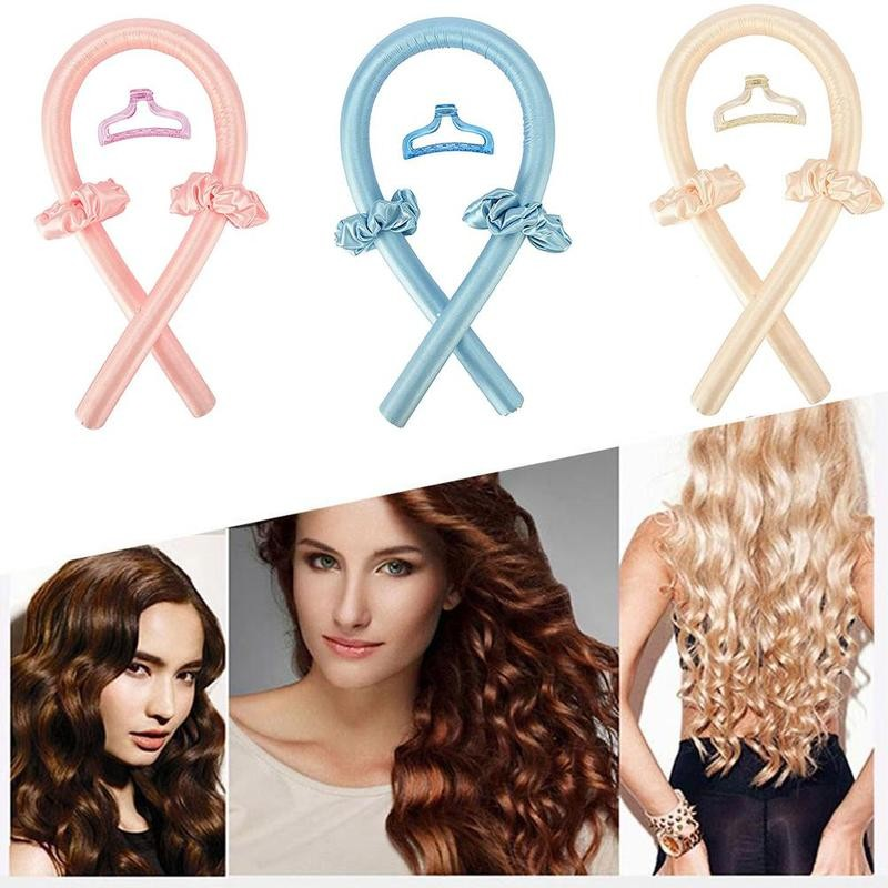 Curling Ribbon Hair Silk Hair Curler Heatless Curls Overnight Silk Tube Soft Wave Formers Women Hair