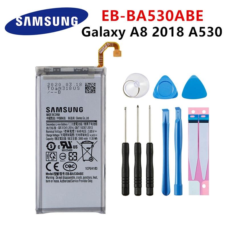 SAMSUNG oryginalny EB-BA530ABE 3000mAh bateria do Samsung Galaxy A8 2018 A530 SM-A530 A530F A530K/L/S/W A530N/DS baterie + narzędzia