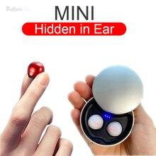 Mini auriculares inalámbricos invisibles Auriculares Bluetooth-compatibles Auriculares deportivos internos con micrófono Auricular para orejas pequeñas