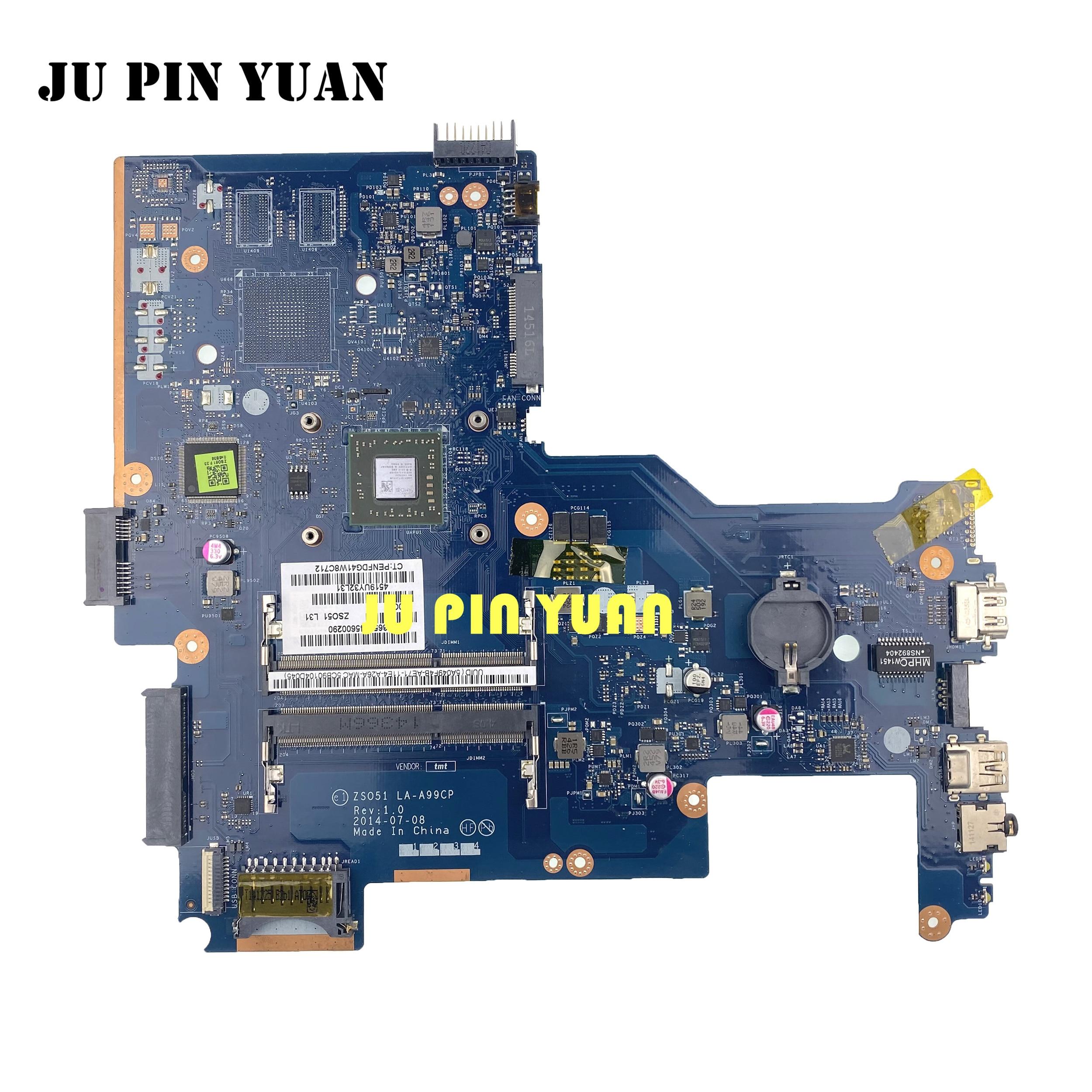 Para HP 15-G 255 G3 placa base de computadora portátil LA-A996P 782948-001 782948-501, 782948-601 probado completamente