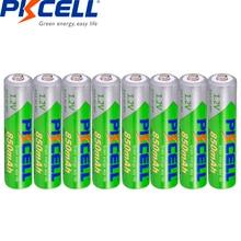 8 pièces * PKCELL 1.2V AAA batterie 850mAh NI-MH 3A Batteries rechargeables faible autodécharge précharge recharge piles pilas aaa