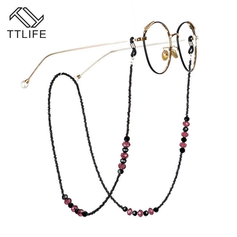 TTLIFE 70cm de cuentas populares, cadena de gafas de acrílico con cuentas, cadena de cristal, cristales, cadena colgante, accesorios para leer YJHH0627