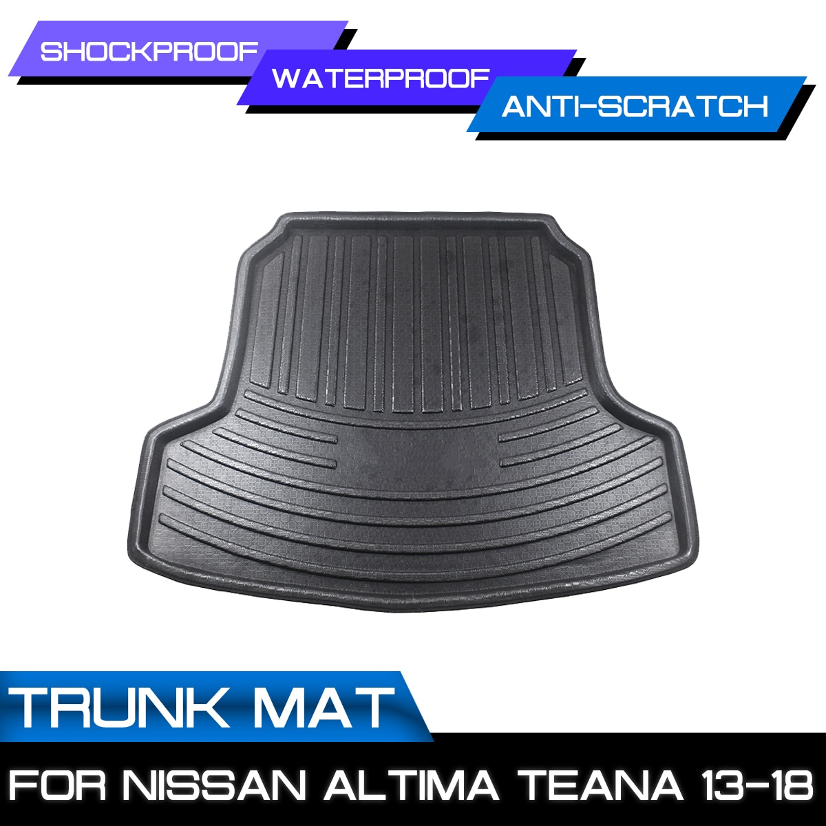 سيارة الخلفي الجذع مكافحة الطين غطاء سجادة أرضية لنيسان ألتيما Teana 2013 2014 2015 2016 2017 2018