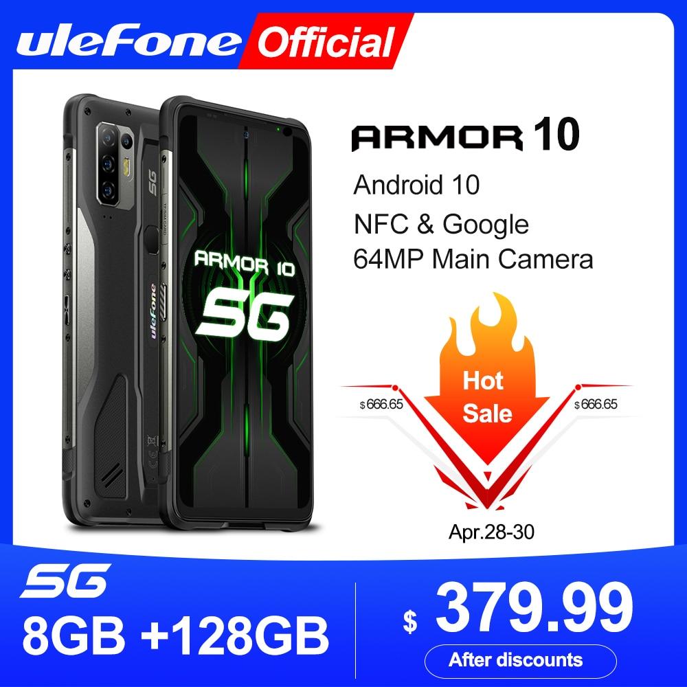 Ulefone Armor 10 5G Rugged Mobile Phone Android 10 8GB +128GB Waterproof Smartphone/IP68 IP69K/ 6.67