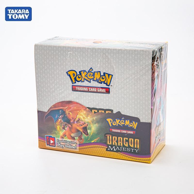 324 unids/caja Pokemon tarjetas TCG Sun & Moon Dragon Majesty Hidden Fates espada escudo Booster Box coleccionable juego de cartas de comercio