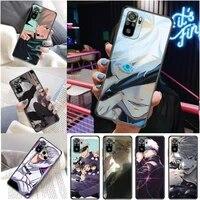 jujutsu kaisen fushiguro megumi yuji itadori satoru gojo sukuna phone case for xiaomi redmi note 10 10t pro 5g carcasa funda