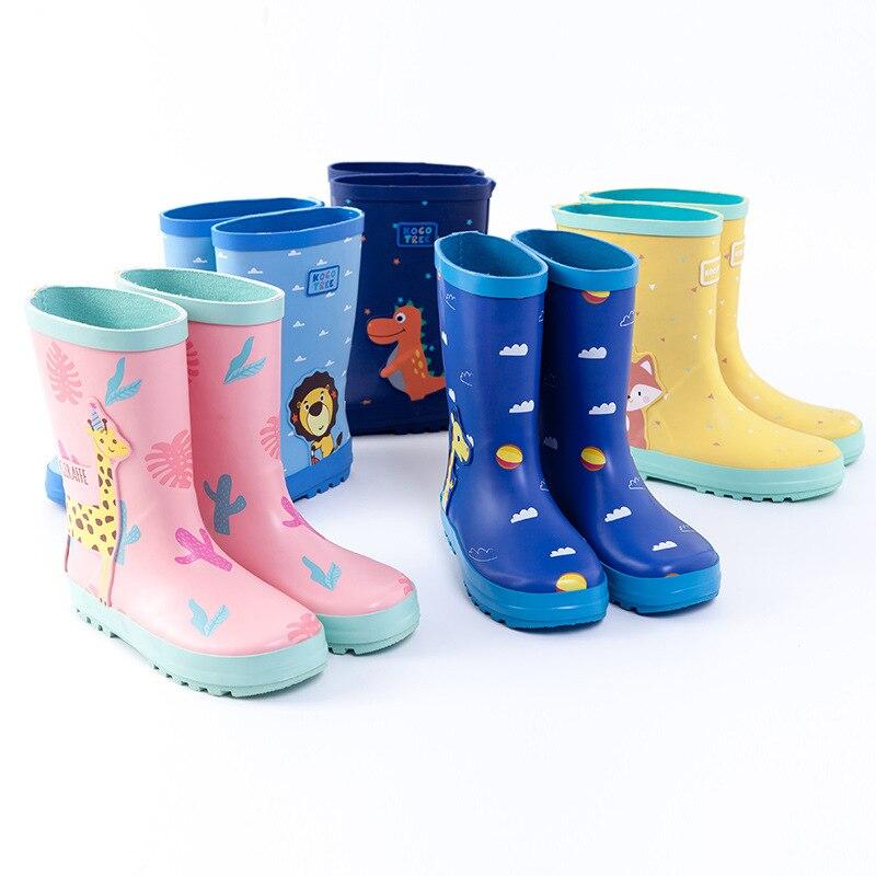ULKNN kinder Regen Schuhe Komfortable Rain Für Jungen Mädchen Neue Gummi Stiefel Wasserdicht Über Kinder Regen Gummi Wasser Schuhe