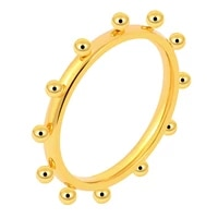new trendy mini balls ring gold color female stainless steel lady finger rings for women fashion jewelry