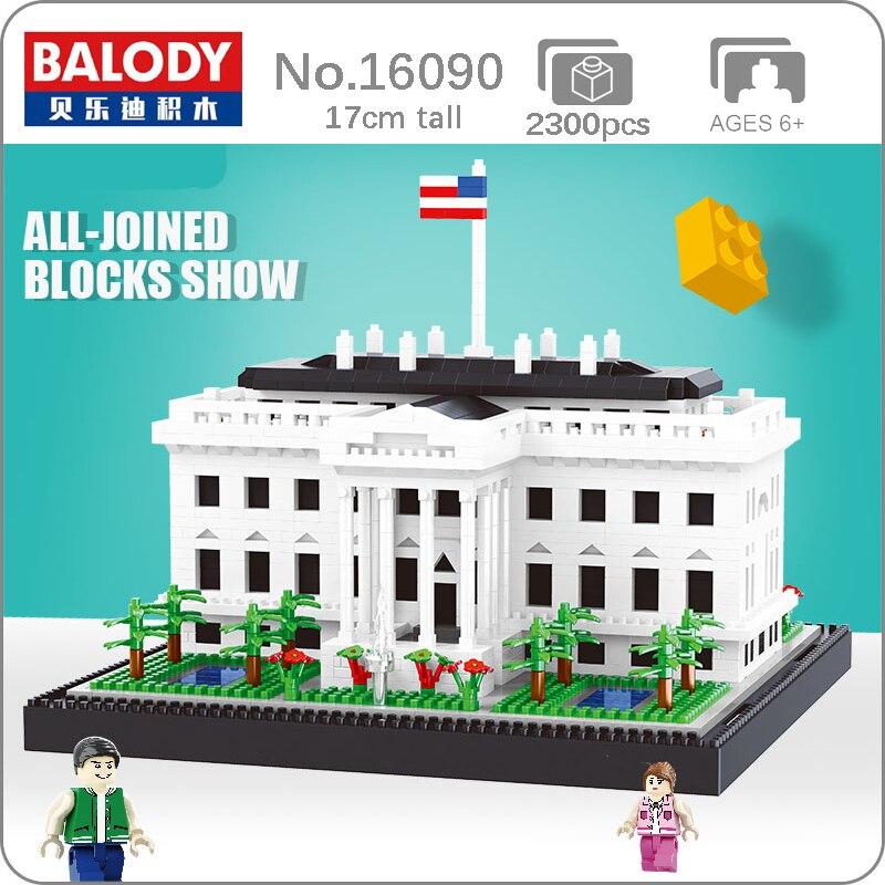 Balody 16090 arquitectura de fama mundial USA la Casa Blanca modelo 3D Mini bloques de diamante juguete de construcción para niños sin caja