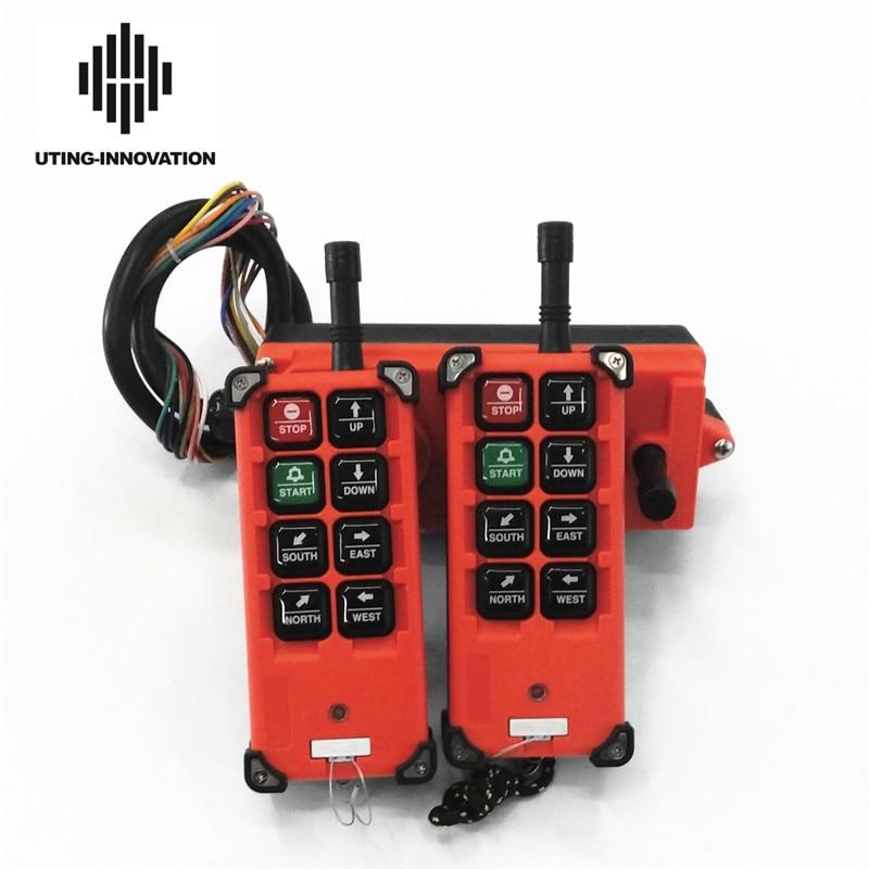 Envío Gratis F21-E1B Radio Control remoto inalámbrico Industrial F21-E1B 2 transmisores 1 receptor para alzamiento de grúa aérea