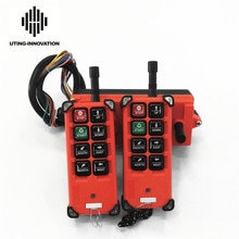 Livraison gratuite universel f21e1b industriel sans fil Radio télécommande F21-E1B 2 transmetteurs 1 récepteur pour pont roulant palan
