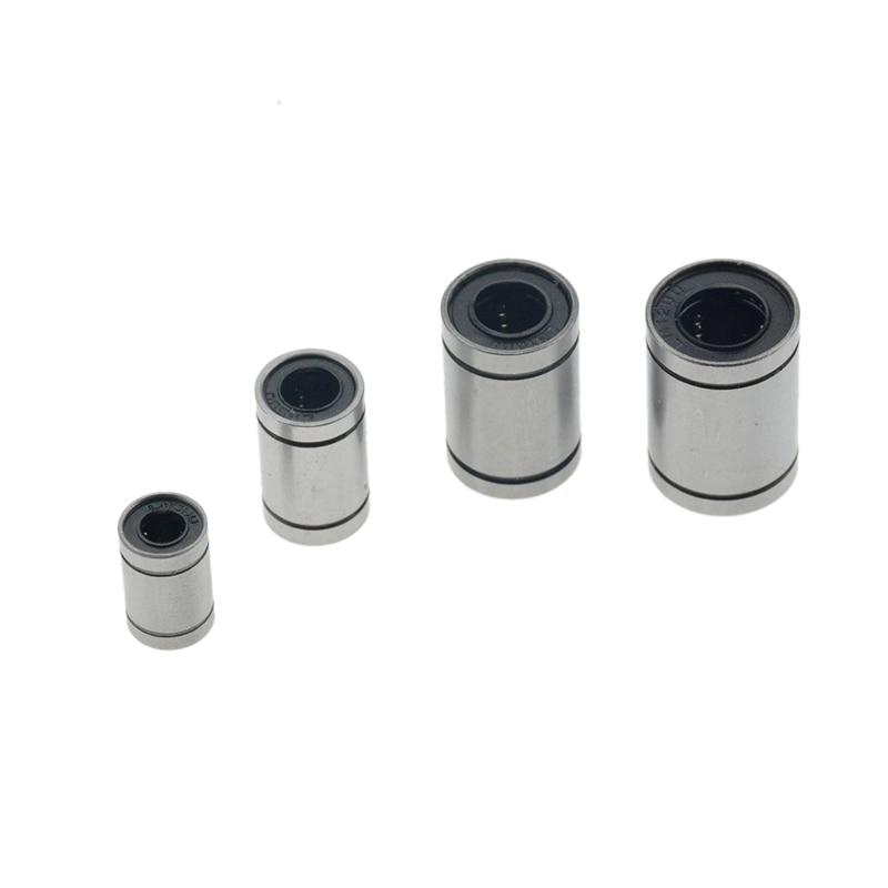 Hot sale 1pc LM3UU LM4UU LM6UULM8UU LM10UU LM12UU LM16UU LM20UU Linear Bushing CNC Linear Bearings Linear Shaft 3D printer parts 1pcs lm6uu lm8uu lm10uu lm12uu lm20uu linear ball bearings 6mm 8mm 10mm 12mm 20mm part bush bushing steel for 3d printers parts