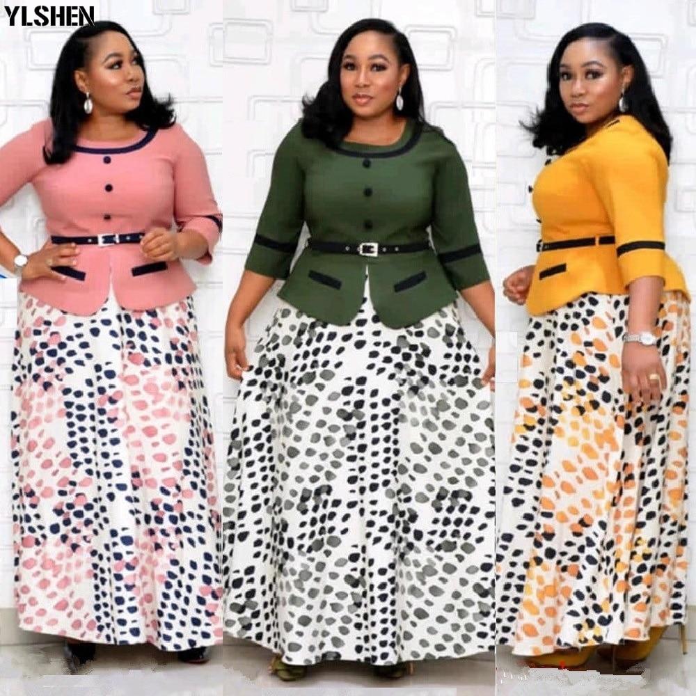 2XL-6XL حجم كبير فستان عيد الميلاد فساتين الأفريقية للنساء ملابس الشتاء Dashiki رداء فام حفلة ماكسي فستان الملابس الأفريقية