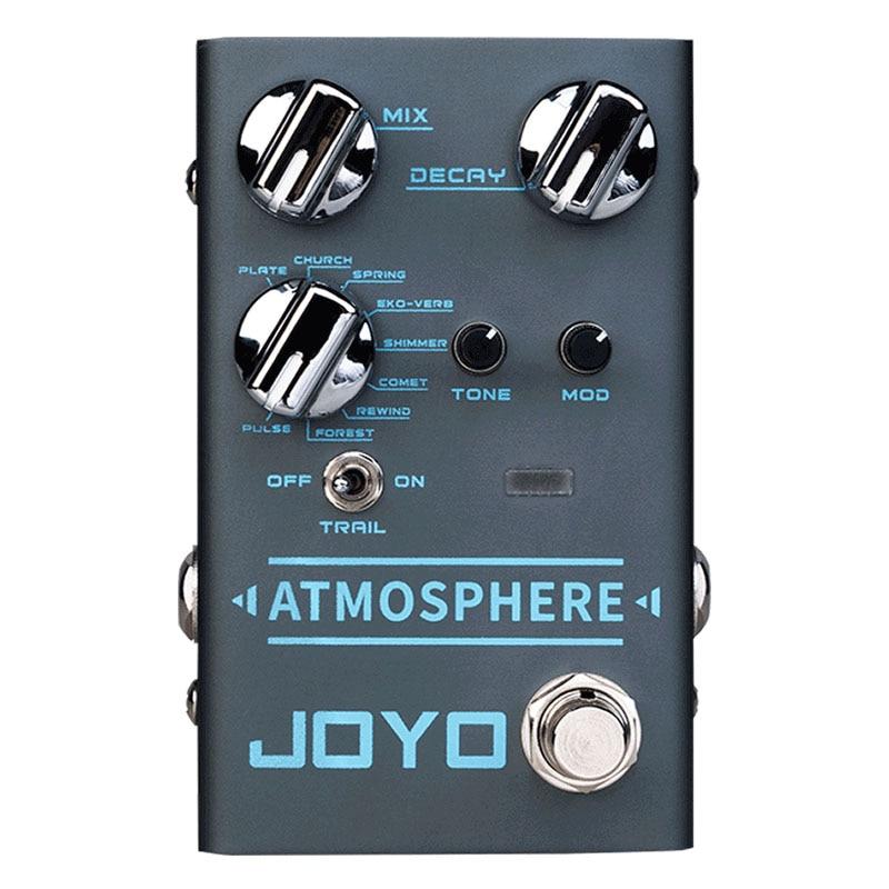 JOYO R-14 ATMOSPHERE Reverb Guitar Pedal SPRING/CHURCH/PLATE/EKO-VERB/SHIMMER/COMET/REWIND/FOREST/PULSE 9Digital Reverb Effect