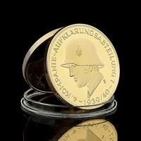 1939 wii deutsche military soldier kompanie aufklarungsabteilung 4 panzerdiv challenge gold plated coin