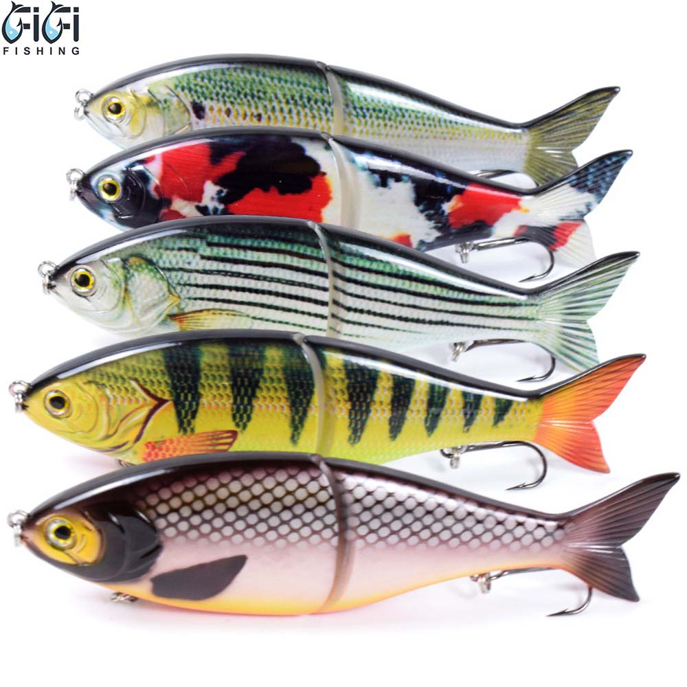 10pcs/lot 180MM 82G Sinking Hard Glide Jointed Swim Bait Wobblers Minow Slide Fishing Lures Artificial Tackle Sea River ABS Body
