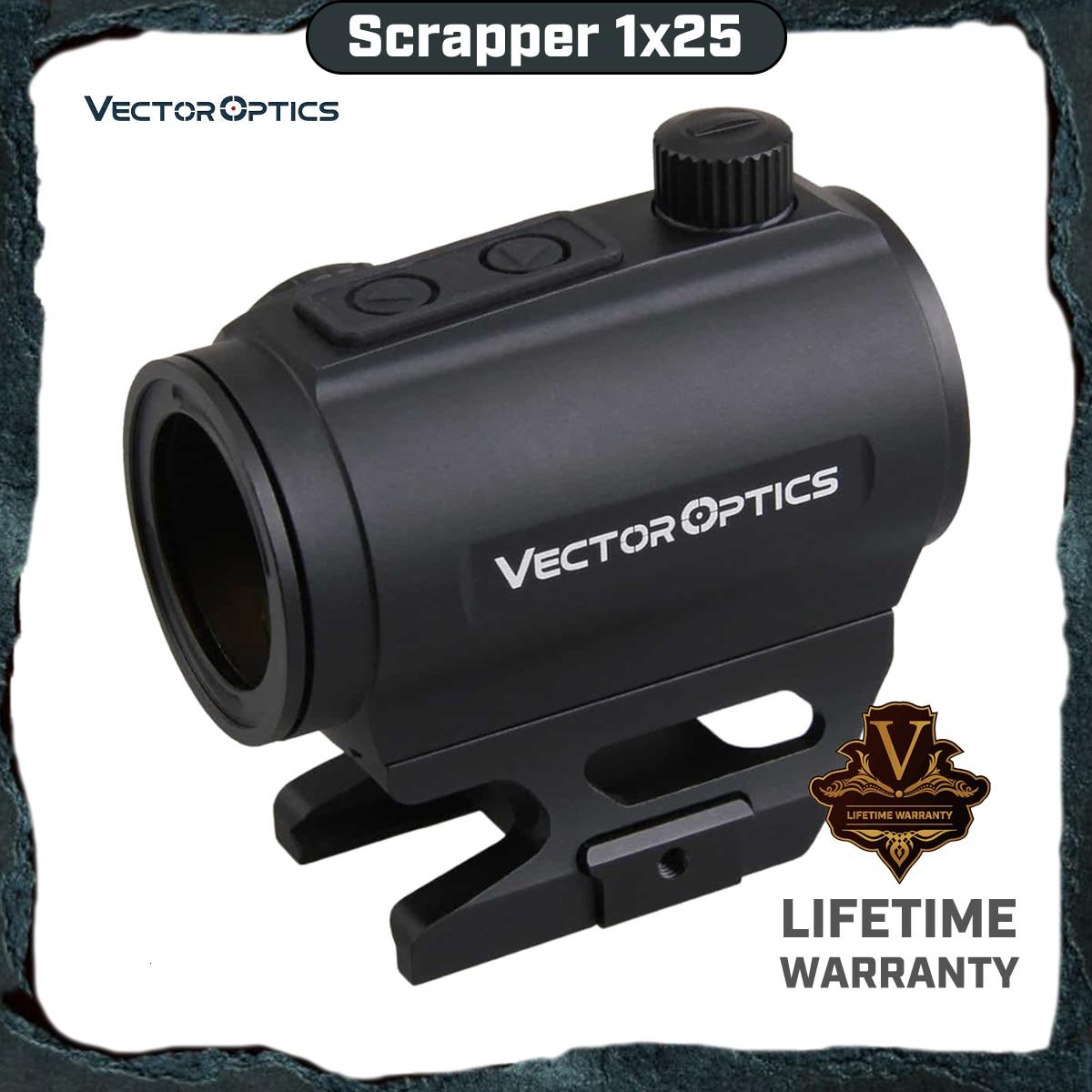 Vector Optics Scrapper 1x25 Red Dot Scope 2MOA Dot Size IPX6 ajuste a prueba de agua NV para la vista AR15 se apaga automáticamente 4 horas