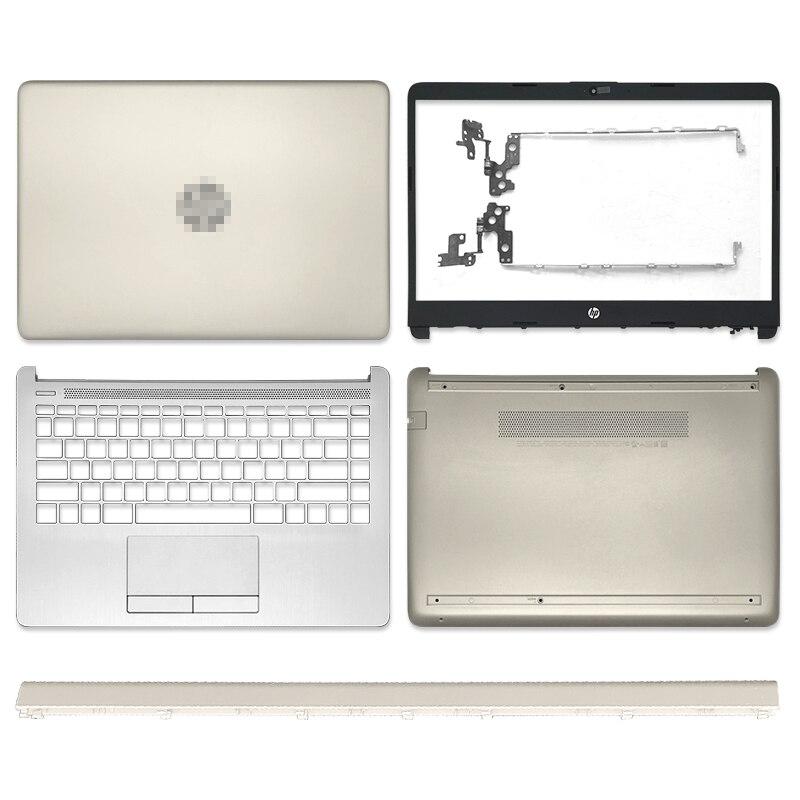 جديد عودة الغطاء الخلفي ل HP 14-CF 14-DK 14-DF سلسلة LCD الغطاء الخلفي/الإطار الأمامي/مفصلات/Palmrest/غطاء سفلي لصندوق الكمبيوتر L24468-001 الذهب