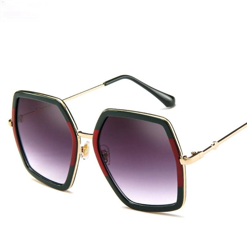 NEW Fashion Oversized Square Sunglasses Women Luxury Brand Designer Vintage Sunglass Fashion Big Frame Sun Glasses UV400