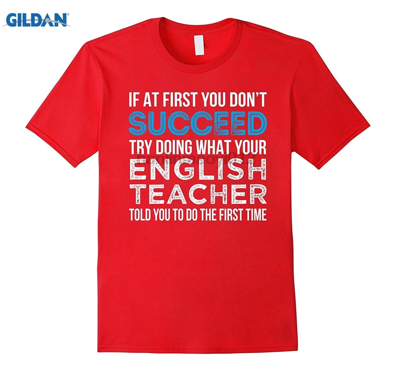 Camiseta divertida de profesor de inglés If At First You dont Succeed