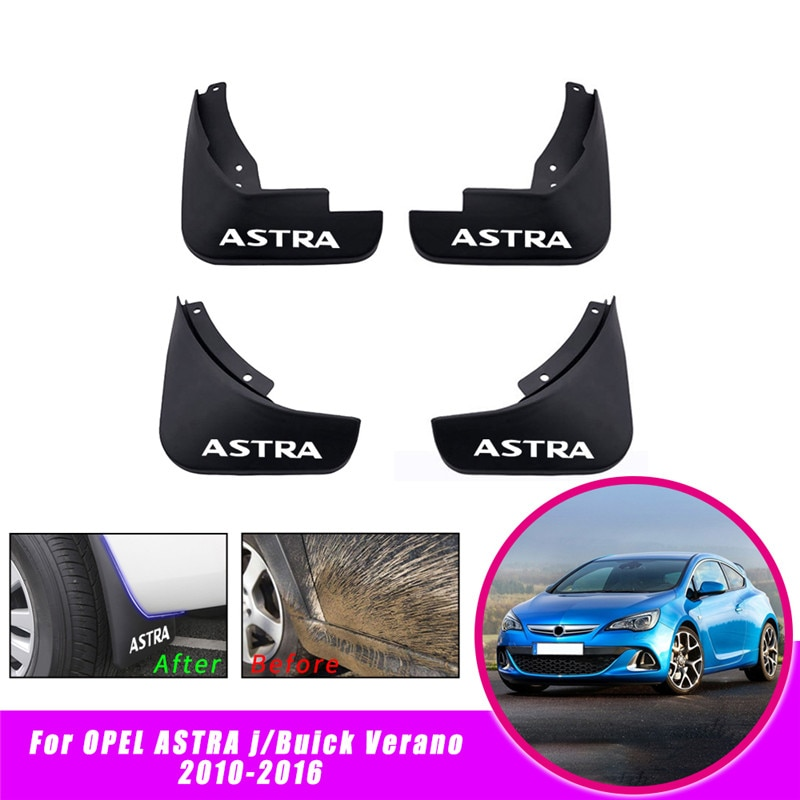 4 шт. передние и задние брызговики для автомобиля Брызговики для Vauxhall Opel Astra J/Buick Verano 2010-2016