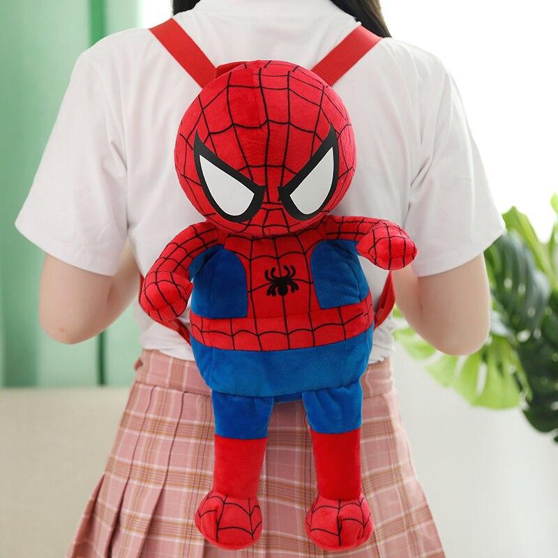 1 шт., 42 см, новинка, хит продаж, плюшевый игрушечный рюкзак с человеком-пауком, милый супергерой, Капитан Америка, Железный человек, Детская игрушечная сумка, креативный подарок для