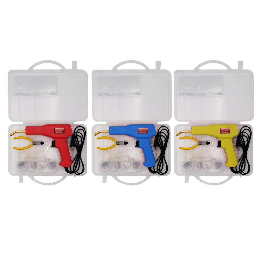 Máquina grapadora de 50W, herramientas de garaje de soldador de plástico, Kits de reparación para parachoques de coche
