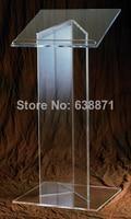 Free Shiping Clear Acrylic Podium / Acrylic Rostrum / Acrylic Lectern