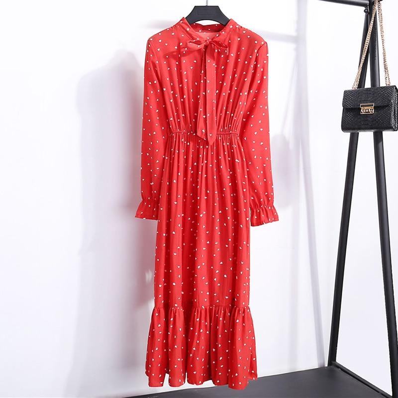 Vestido Casual de otoño para mujer, Vestido camisero de gasa con estampado Vintage Floral de estilo bohemio para mujer, Vestido