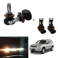 for ford explorer 2006 2010 4x h13 9145 led headlight fog light combo bulbs kit