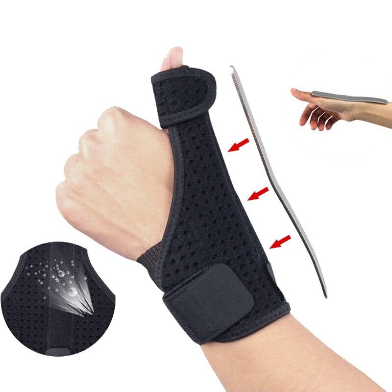 1 Uds. Cinturón de seguridad deportiva ajustable para el pulgar del túnel carpiano, muñequera para el dedo de la mano, esguince y artritis