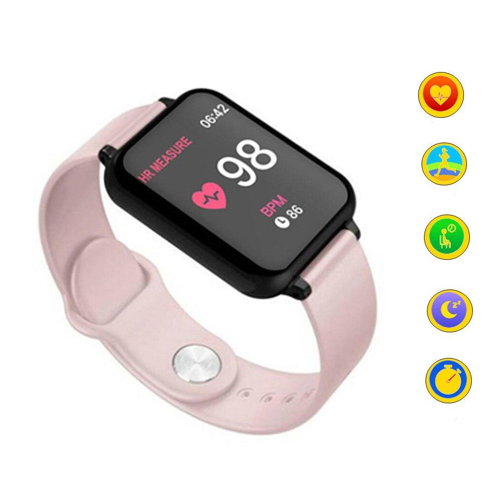 Relojes a prueba de agua IP67 para hombre y mujer, reloj inteligente deportivo con control del ritmo cardíaco y de la presión sanguínea para Samsung y iPhone