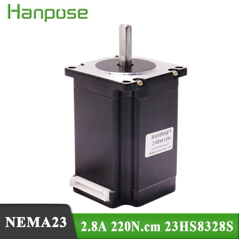 10PCS NEMA23 2.8A 2.2N.m 83mm  57stepper motor   23HS8328S Step Motor for 3D printer CNC engraving milling machine