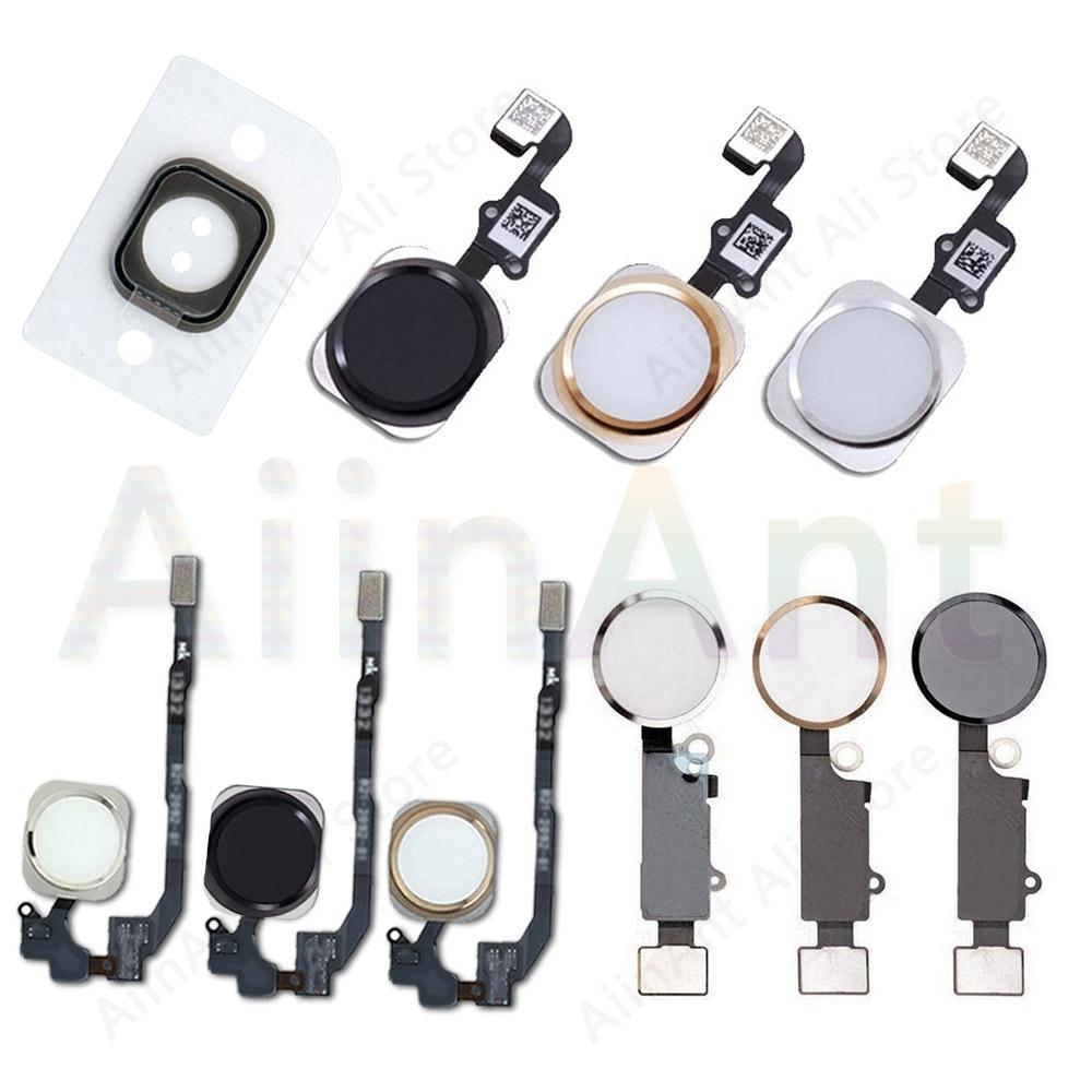 Home-Button Flex For iPhone 6 6s 7 8 Plus 5s SE Return Back Home Button With Flex Cable Rubber Stick
