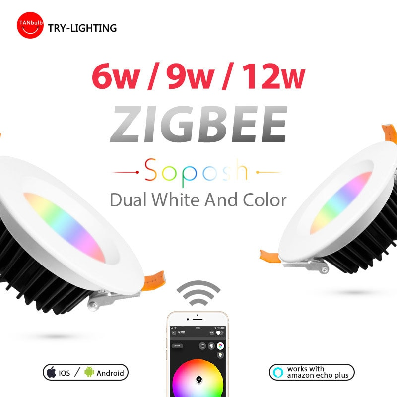 مصباح LED للمدخل ، RGB ، ZIGBEE ، CCT ، 6W/9W/12W ، بروتوكول ZLL ، AC 100V-240V
