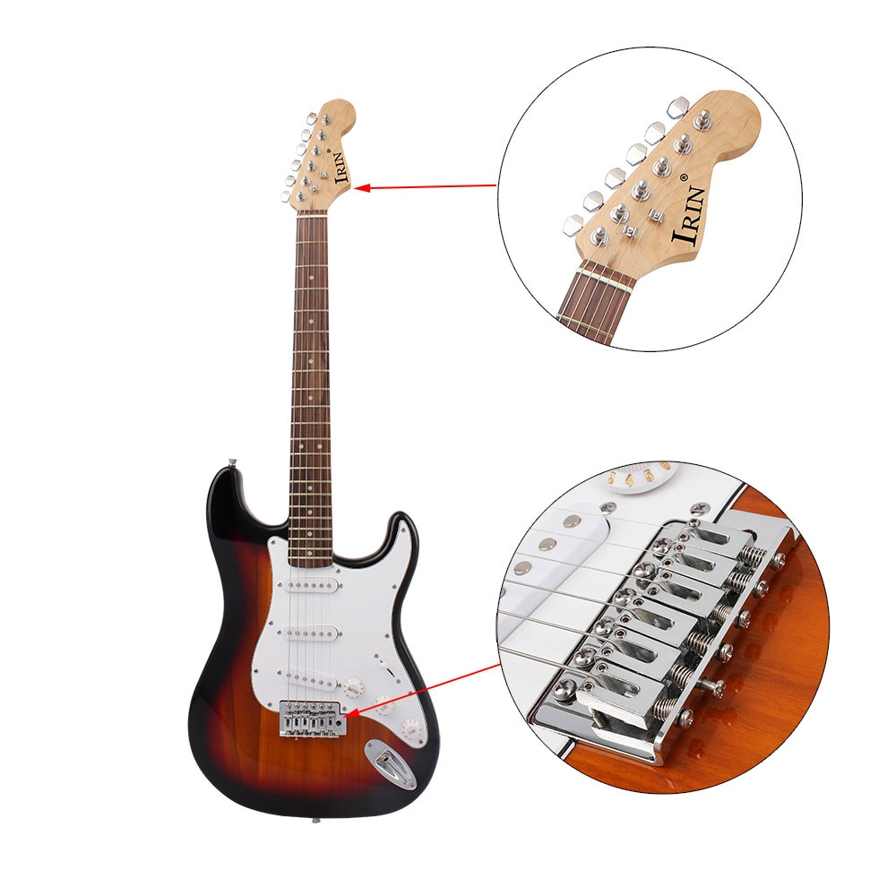M MBAT 21 Frets 6 Strings Electric Guitar Kit Solid Wood Body Maple Neck with Picks Strap Bag Tuner Guitar Parts Accessories enlarge