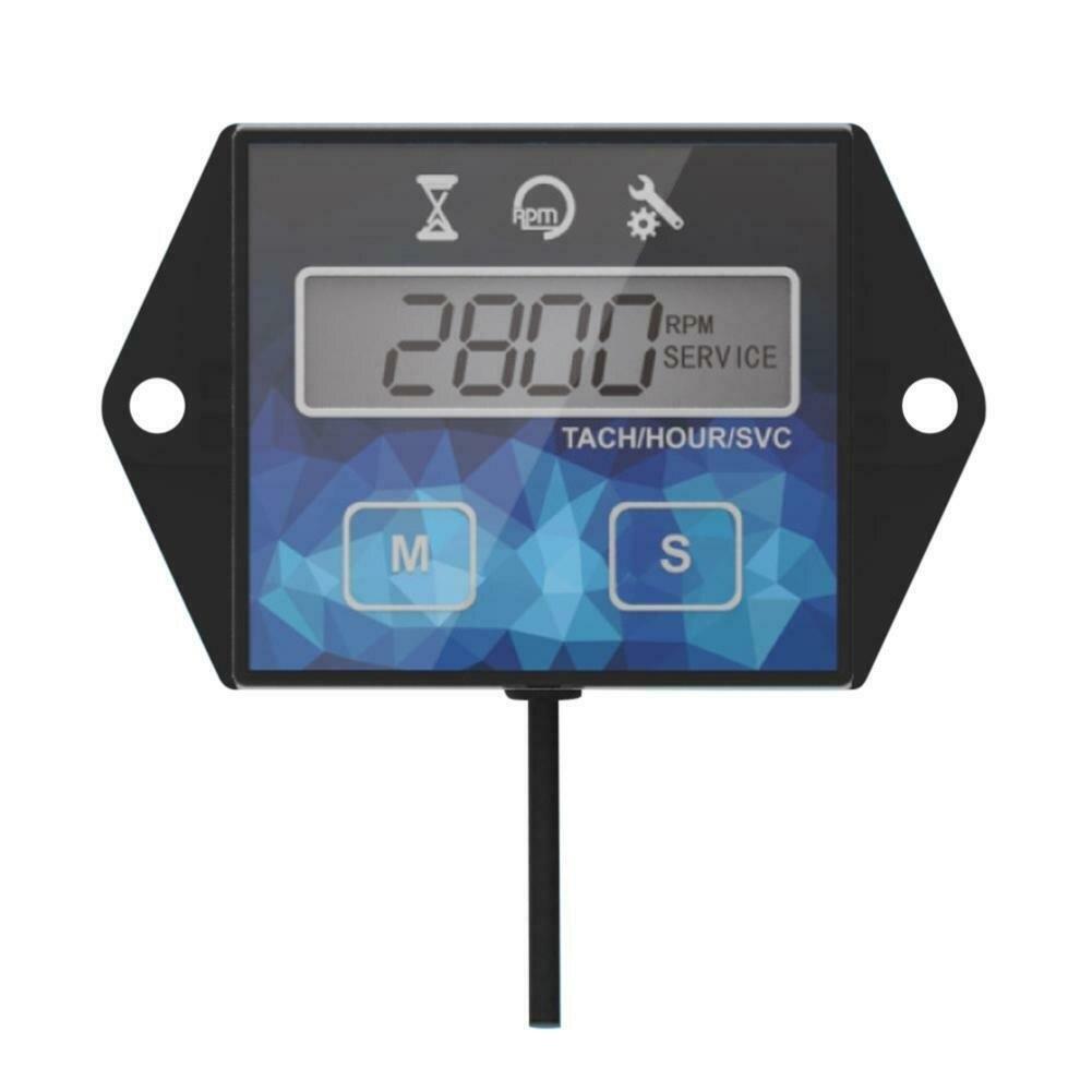 LCD Motorcycle Tachometer IP65 0.1H/1H 1pc ABD Parts Accessories ATV Waterproof